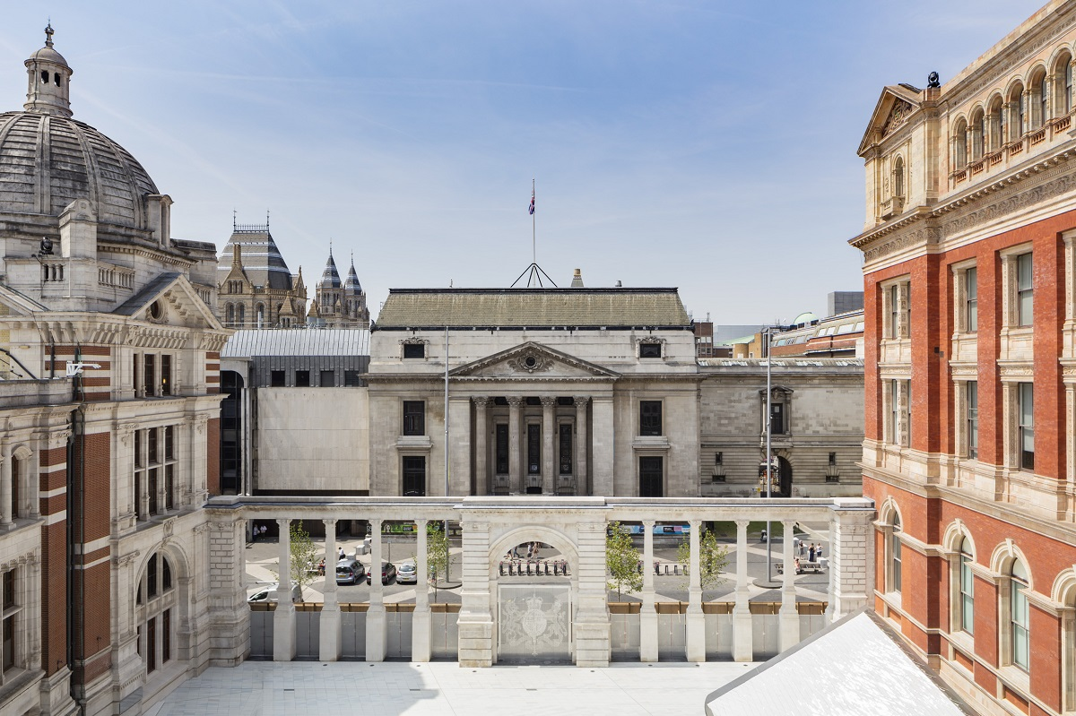 Sackler Courtyard, the new entrance to the Victoria and Albert Museum
